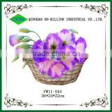 Cheap wicker flower basket flower girl wicker baskets