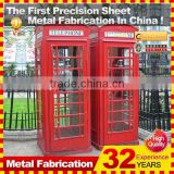2014 metal public wall mirror red london antique telephone booth decoration for sale