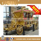 2017 New Royal Golden Cinderella pumpkin horse carriage Celebration Wedding carriage (BG11-M053)