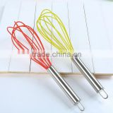 Intelligent kitchen special convenient manual silicone rubber egg whisk