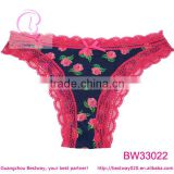 Womens hot sex photo of hot red rose flower panties in apparel