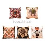 2016 New Cotton Wool Embroidery Special Canvas Home Furnishing Square Pillow Cover hot sales