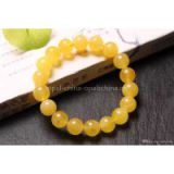 NEFFLY Natural Orange 925 Sterling Silver 10mm Indian Asian Style Beaded Strands Bracelets Beeswax Gift Gorgeous Free Shipping