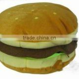 Custom cute and cheap fleece hamburger plush CD holder