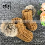 2017 Factory Wholesale Comfortable Handmade Baby Won Shoes Toddler Booties Crochet Pattern