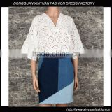 Korean Lace Embroidery blouse customized color factory wholesale