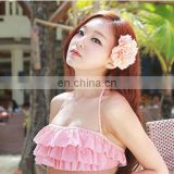 Big Peony Flower Beach Hair Clip Hairpin Brooch Straw Hat Accessories