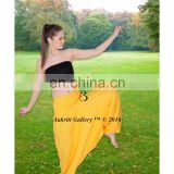 Yellow Yoga Jumpsuit Aladdin Gypsy Solid Dance Harem Pant Wholesale