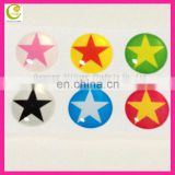 Fashionable world popularly 1set with 6pcs cartoon style epoxy resin+sticky vinyl home button sticker for iphone 5s