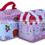 Hot sale house shaped money tin box