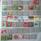 5X5 cm Paper card with christmas theme meory card