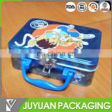 Cute new design cute metal lunch box with plastic handle for children