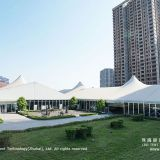 Glass Wall High Peak Tent for Auto Showroom