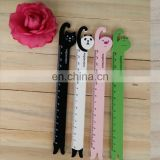 Wooden Cat,Pig,Frog,Panda Head Design Cartoon Ruler Bookmark