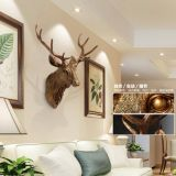 restoring ancient ways creative simulation animal deer head wall hanging decoration style indoor resin crafts decoration home decor
