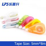 Non Toxic White Out Correction Roller Plastic Colorful Pink Correction Tape No.T-90214