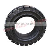 Forklift parts Non-pneumatic high load wear-resistance solid rubber black tyre OE.:QJ28915502