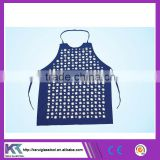 Blue color Tatting labour protective safety apron zinc button manufacturer price (V063)