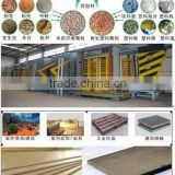 complete production line for wood plactic composite board