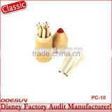 Disney Universal NBCU FAMA BSCI GSV Carrefour Factory Audit Manufacturer Wood Colored Pencil Set With Case For Kids