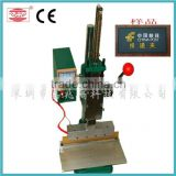 CE small manual logo heat press machine,easy to use heat transfer mark