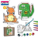 best sell educational toys art painting diy wall clock for kids