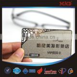 MDM1 CR80 standard size printed metal business card clear business card                                                                         Quality Choice