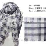 yiwu scarfs market blue and white plaid scarf acrylic kinting winter couple square scarves