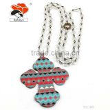 Fashion hot sale for lady top quality sticker cross multicolor latest crystal bead necklace