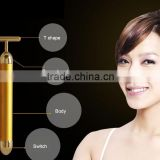 face roller T Shape facial machine Beauty Esthetic Bar face roller massager gold bar 24k