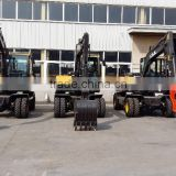 Excavator Used Cheap, RC Hydraulic Excavator for Sale, LG6100 Excavator, Walking Wheel Excavator, 10T Wheel Excavator