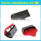 OEM soft fold optical read glasses case special design real leather sunglass case/sun galsses case