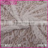 "65.3"" Flower Soft Eslatic White Nylon Spandex Kitted Large Wedding Dress French Lace Fabric for Kid Clothes in Stock"