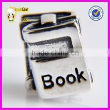 Wholesale beads 925 sterling silver University Custom Made Book Charms Jewelry