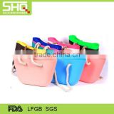 Factory direct wholesale selling silicone handbags silicone shopping bag silicone beach bag tote bag