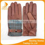 boys fashion dress hand genuine goat skin leather buttons gloves