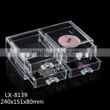acrylic makeup case storage preferable transparent Plastic cosmetic organizer 4 drawers