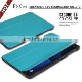 Latest hot selling PU case for Samsung galaxy Tab A 10.1Soft Microfiber skin for ultra thin case with stand function