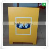 3D Printing ABS yellow custom vacuum formed plastic caution stand sign board                                                                         Quality Choice