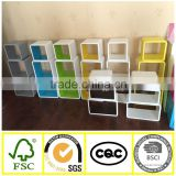 Set 3 wall shelf colorful display shelf home shelves