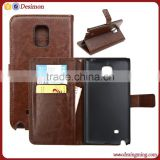 New arrival folding flip pu leather case for samsung galaxy note edge N9150 case