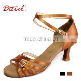 D006091 Dttrol bulk fashion and elegant high heel ballroom competition dance shoes latin women salsa