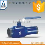 2015 TKFM hot sale city water ,gas supply branch pipeline use welded&flange standard fully welded ball valve