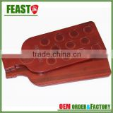 New design wine red color wooden or bamboo cup holder tray table