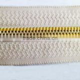 5# nylon zipper nylon plated gold teeth zipper long chain zipper luggage zipper bag zipper