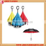 Adults fashion Semi-automatic Gifts Umbrellas Promotion and Creative Double - layer Reverse Umbrella