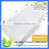 Soft Fitted Crib Mattress Protector Pad Cover of Bamboo Rayon Fiber