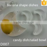 "banana shape ceramic 3"" small dishes 5"" candy dish salad bowl bone china dishes salad bowl"