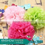 Tissue paper pom poms artificial flowers balls birthday decoration items