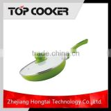 Aluminium Ceramic Coating Fry Pan with Glass lid